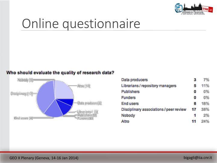 Online questionnaire