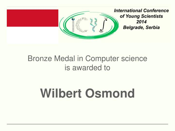 Bronze Medal in Computer science