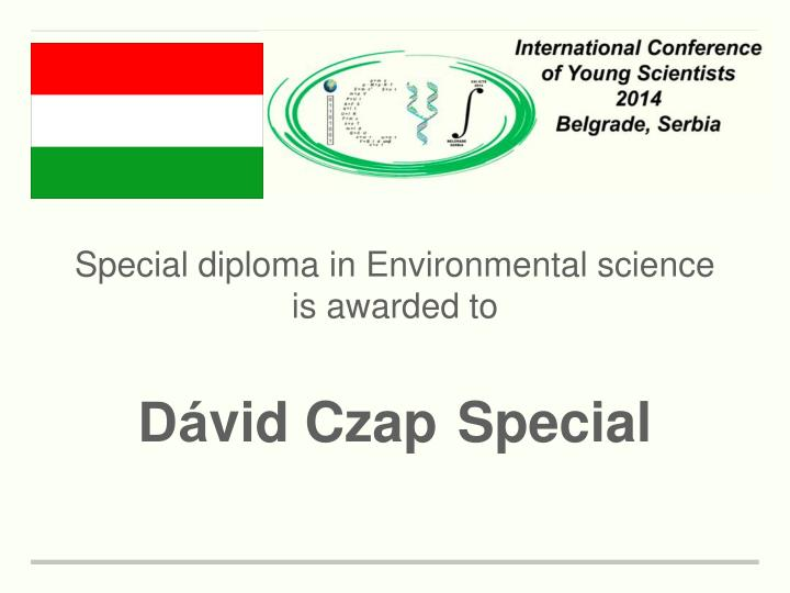 Special diploma in Environmental science