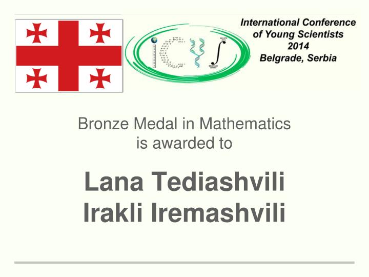 Bronze Medal in Mathematics