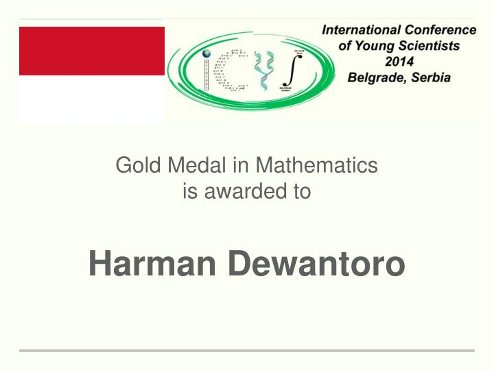 Gold Medal in Mathematics