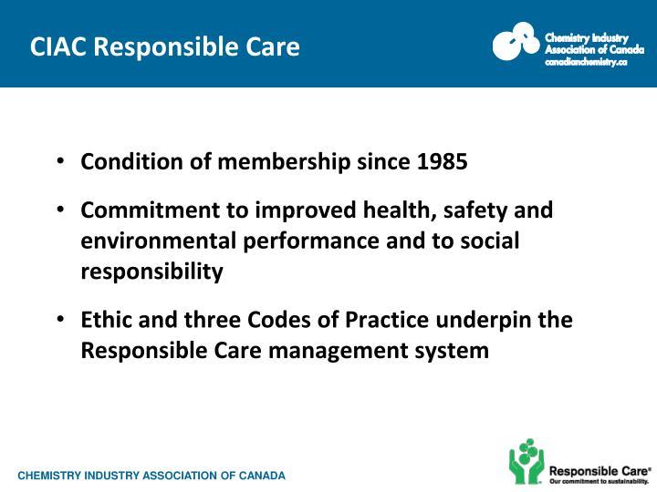 CIAC Responsible Care