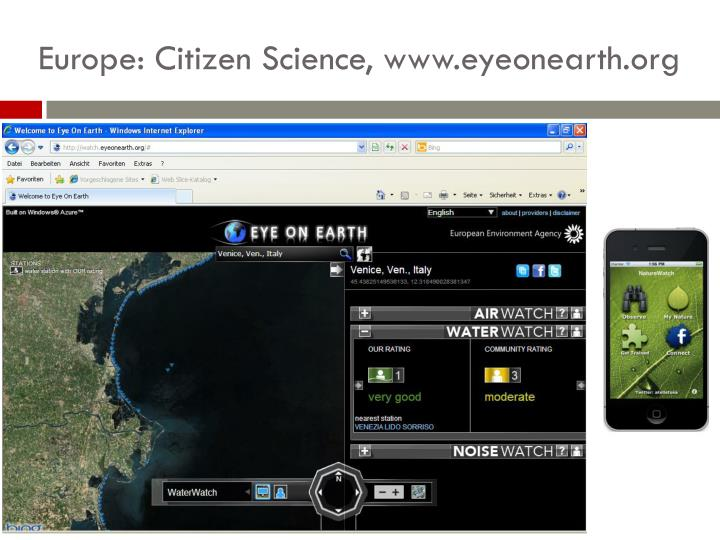 Europe: Citizen Science,