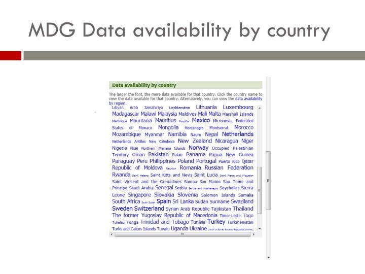 MDG Data