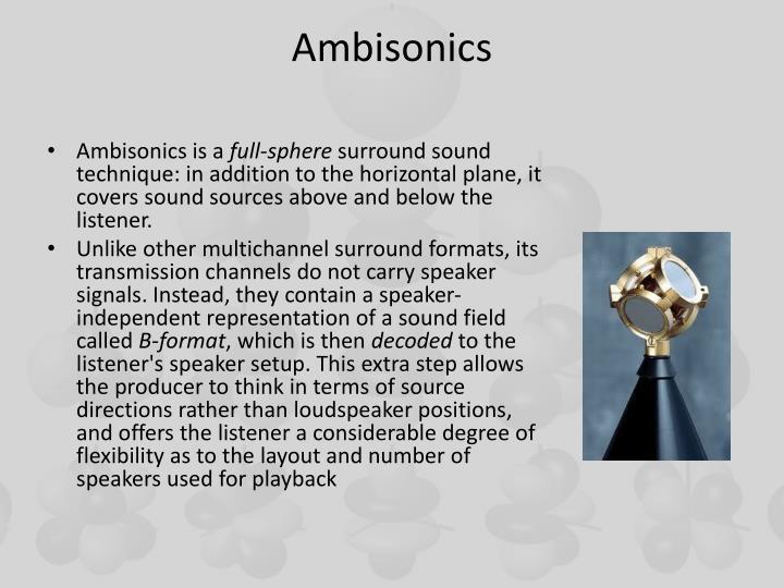 Ambisonics