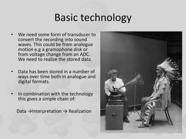 Basic technology