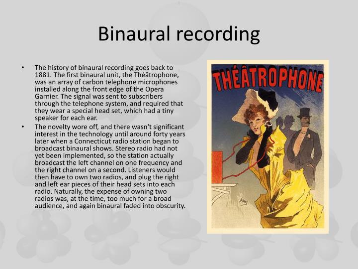 Binaural recording