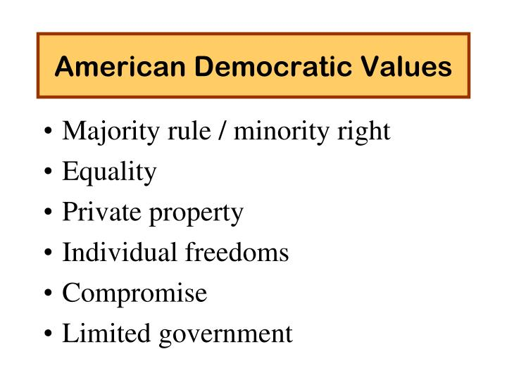 American Democratic Values