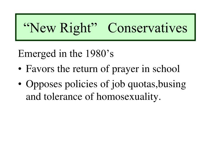 """New Right""   Conservatives"