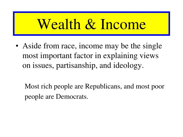 Wealth & Income