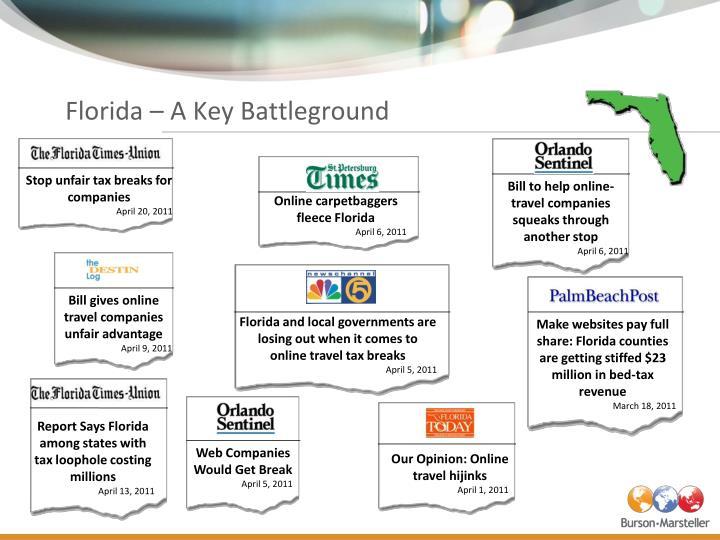 Florida – A Key Battleground