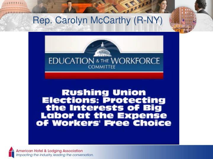 Rep. Carolyn McCarthy (R-NY)