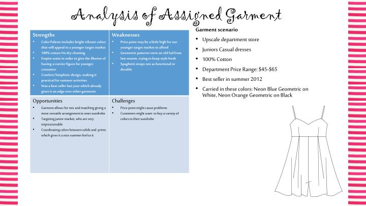 Analysis of assigned garment