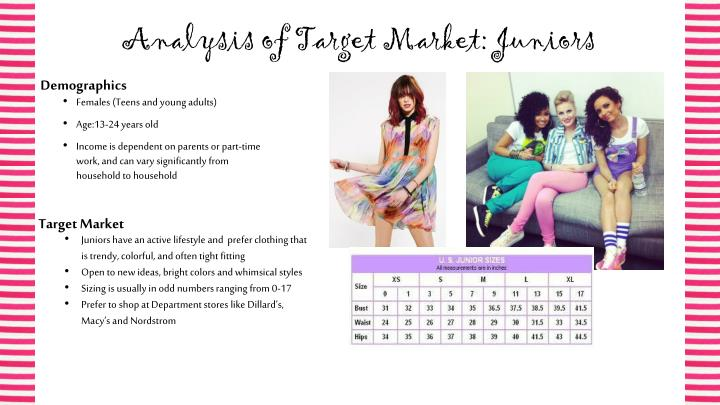 Analysis of Target Market: Juniors
