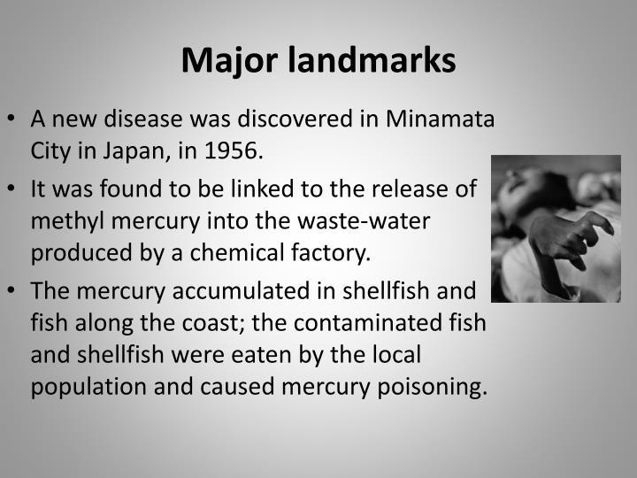 Major landmarks