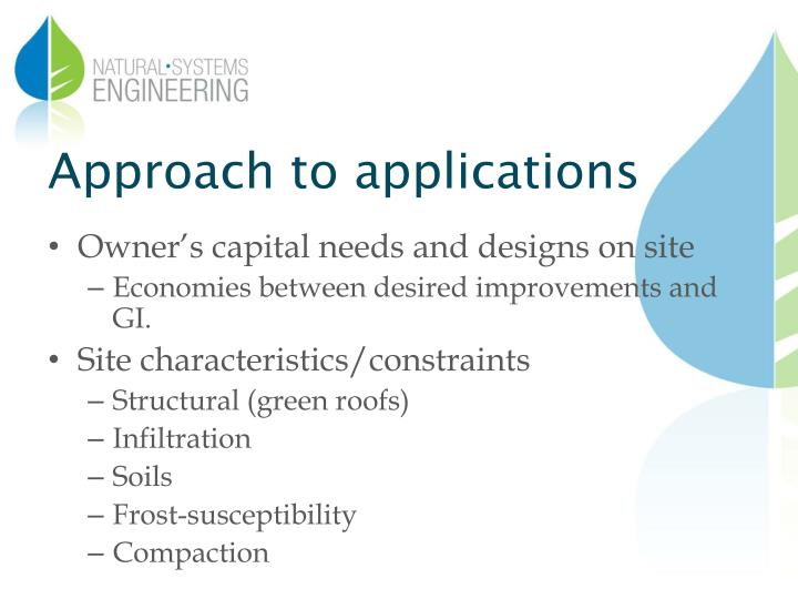 Approach to applications