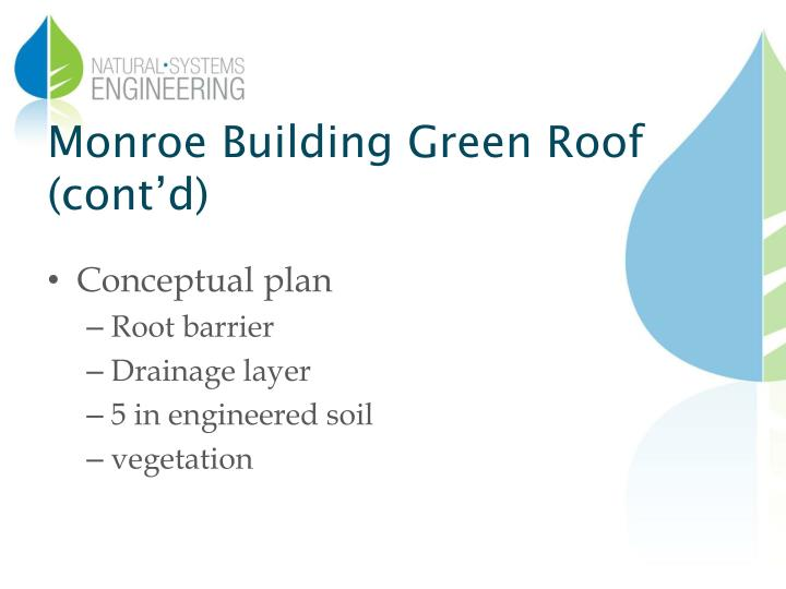 Monroe Building Green Roof (cont'd)