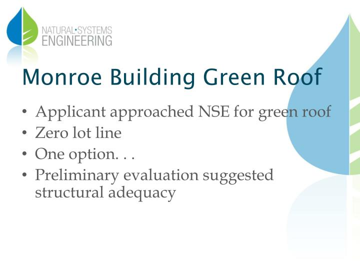 Monroe Building Green Roof