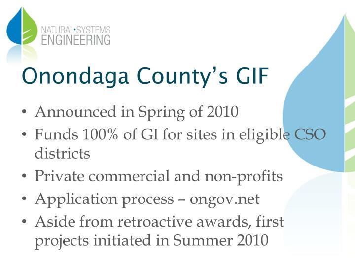 Onondaga County's GIF
