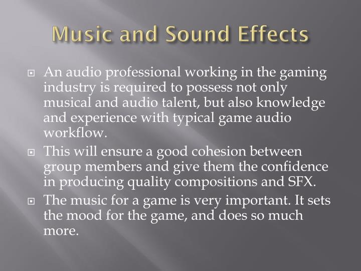 Music and sound effects