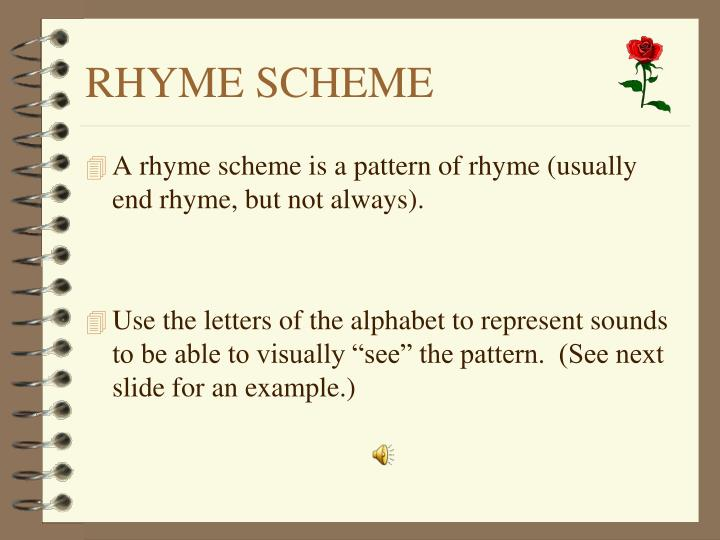 RHYME SCHEME