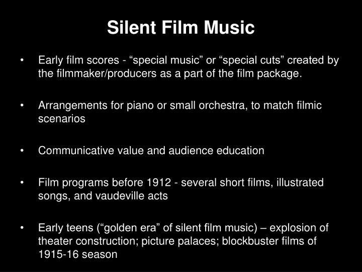 Silent Film Music