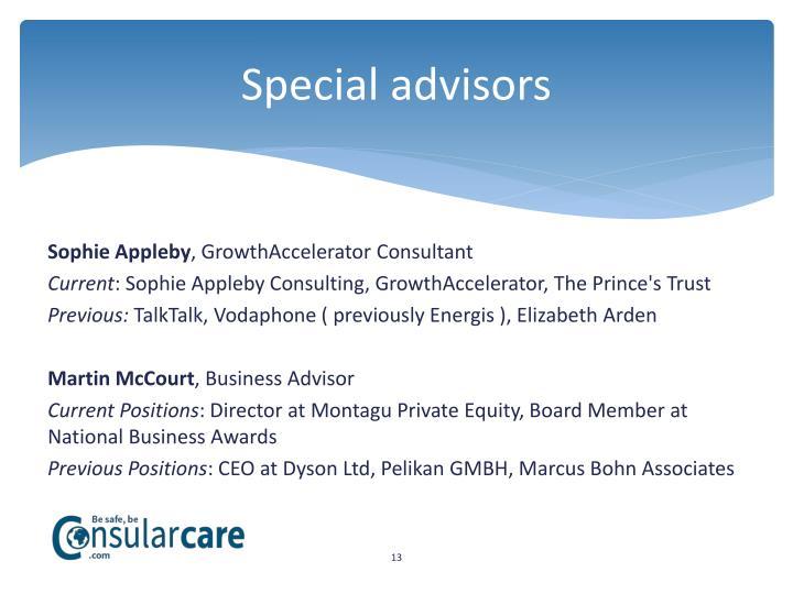 Special advisors