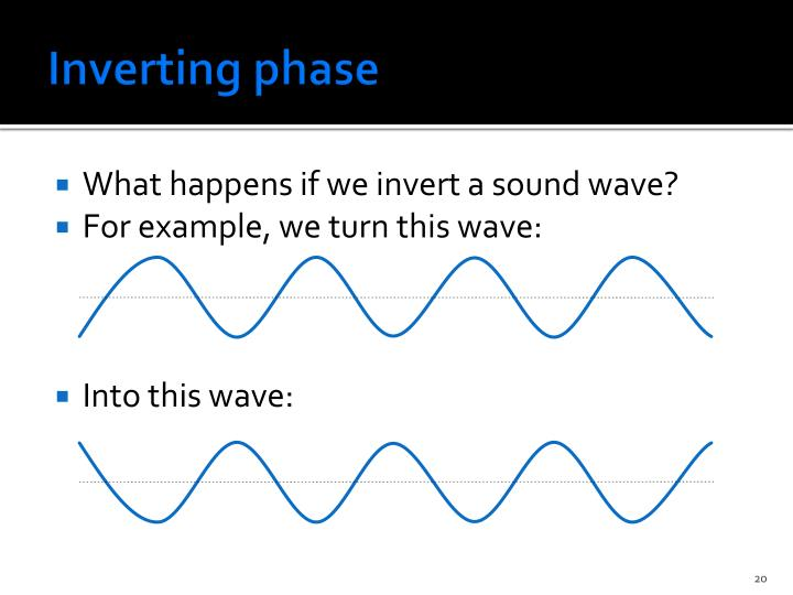 Inverting phase
