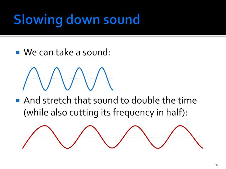 Slowing down sound