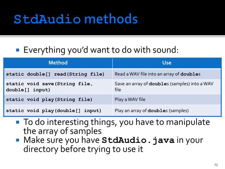 StdAudio