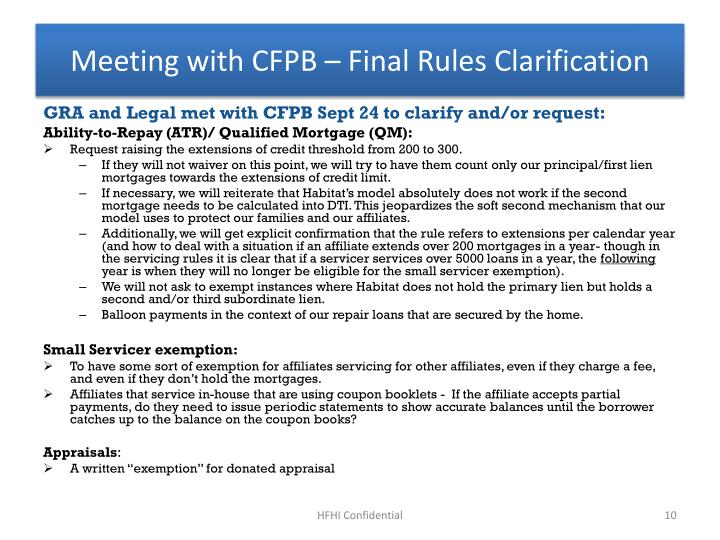 Meeting with CFPB – Final