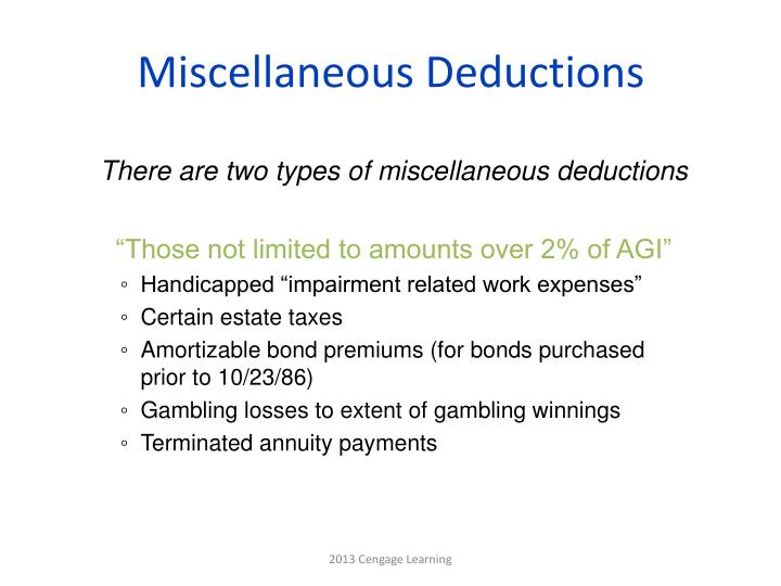 Miscellaneous Deductions
