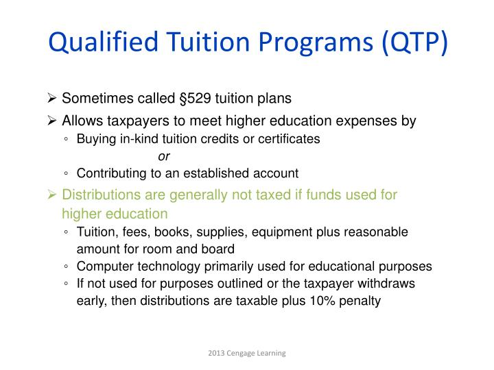 Qualified Tuition Programs (QTP)