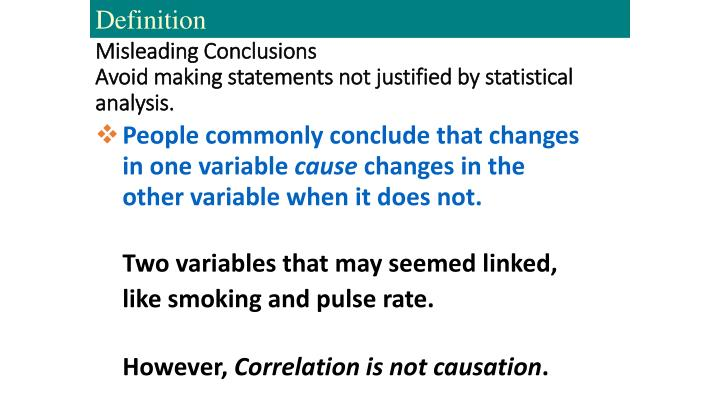 Misleading Conclusions