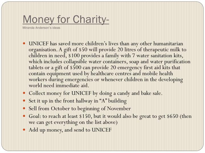 Money for Charity-