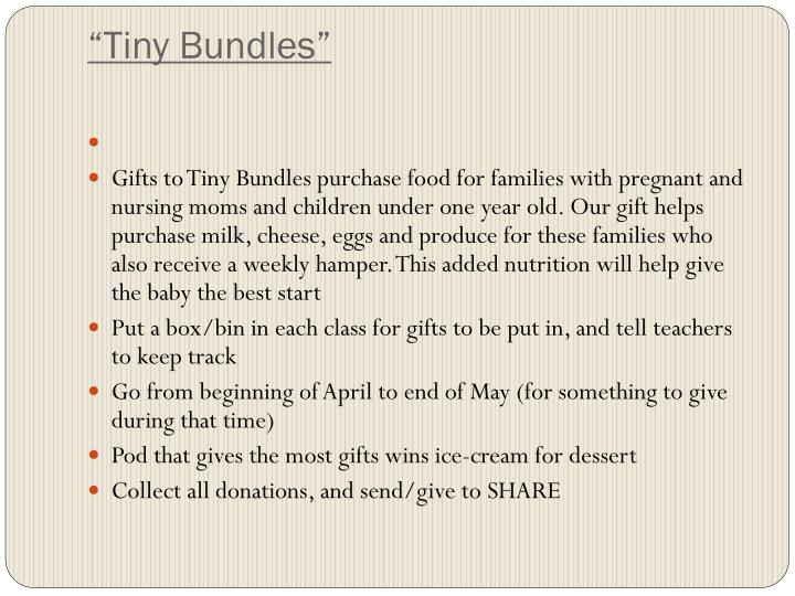 """Tiny Bundles"""