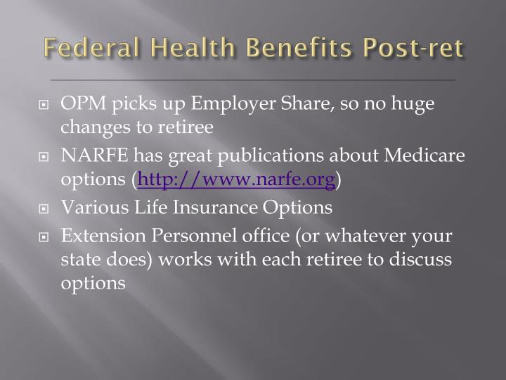 Federal Health Benefits Post-ret