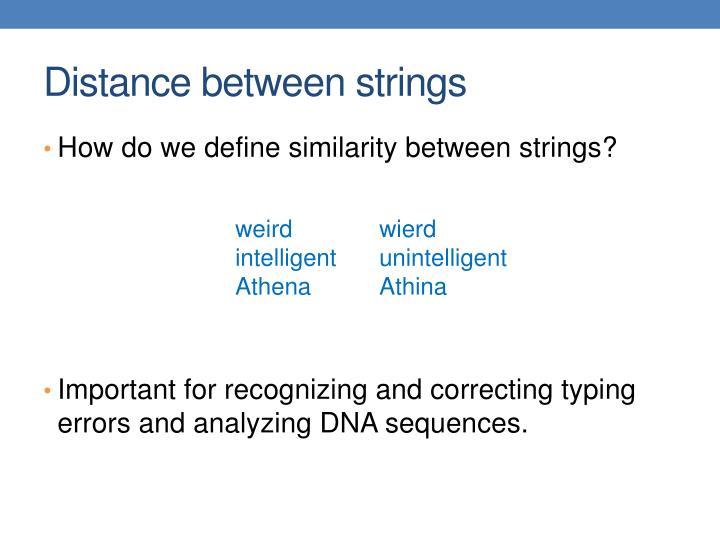 Distance between strings