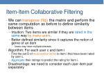 item item collaborative filtering