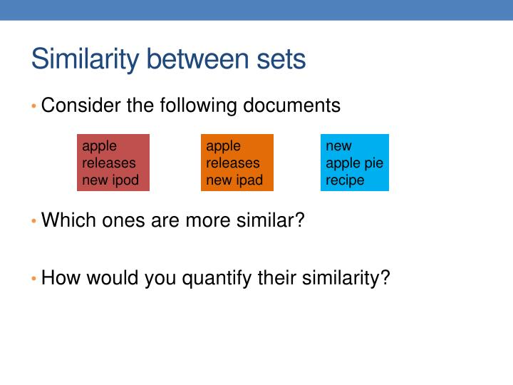 Similarity between sets