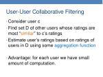 user user collaborative filtering