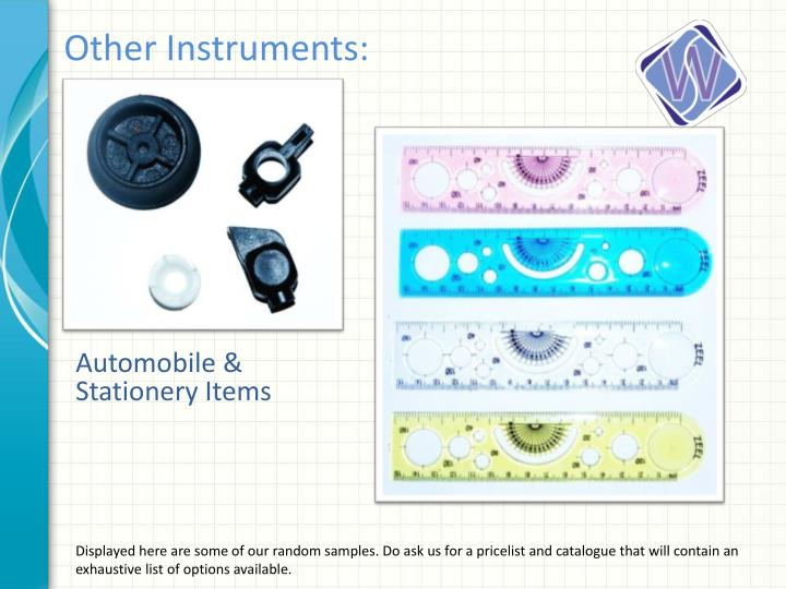 Other Instruments: