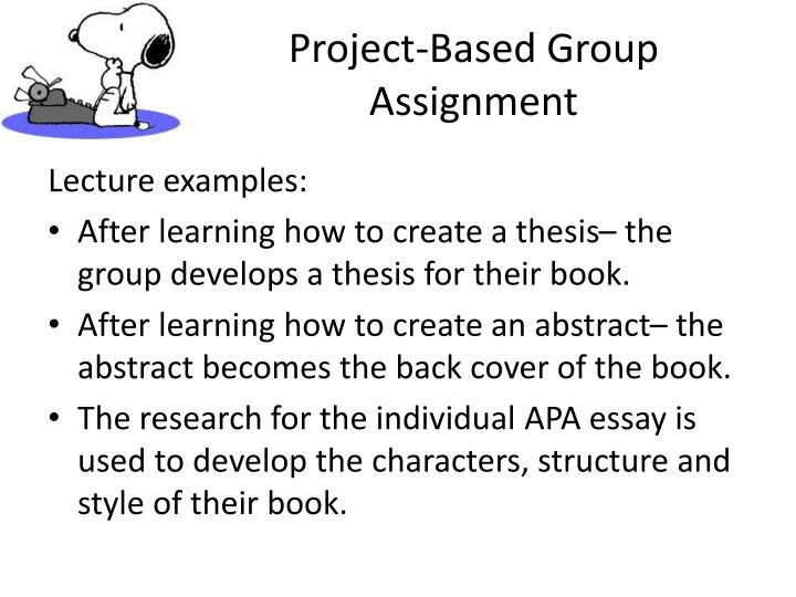 Project-Based Group Assignment