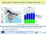 agriculture food security water demand
