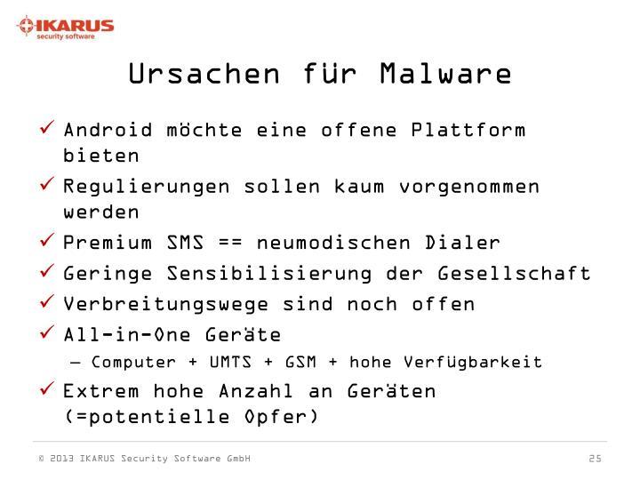 Ursachen für Malware