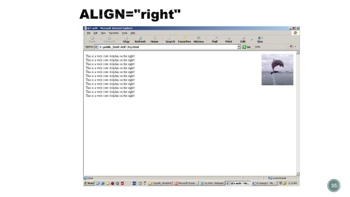 "ALIGN=""right"""