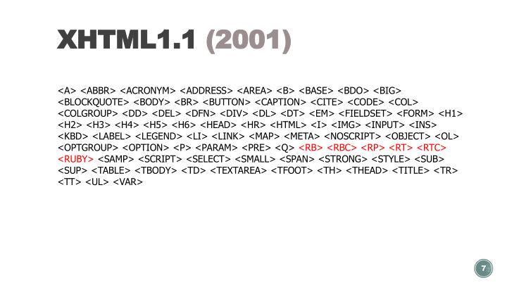 XHTML1.1