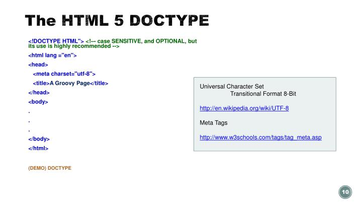The HTML 5 DOCTYPE