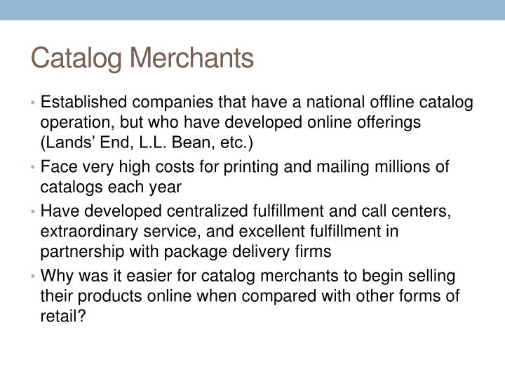 Catalog Merchants