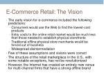e commerce retail the vision